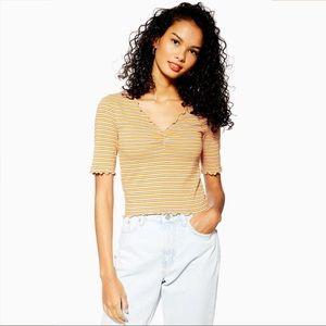 TOPSHOP Stripe Lettuce T-Shirt